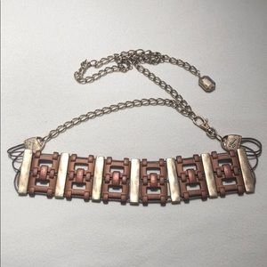 Copper/gold chain link belt
